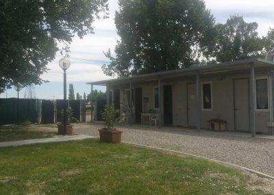 Fronte della struttura canile di Modena
